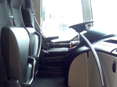 Reisebus Einstieg