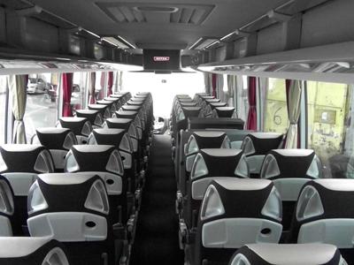 Reisebus Sitzreihen